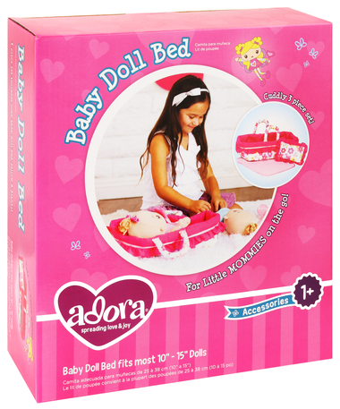 Adora: Baby Doll Bed - KidsnToys.co.nz