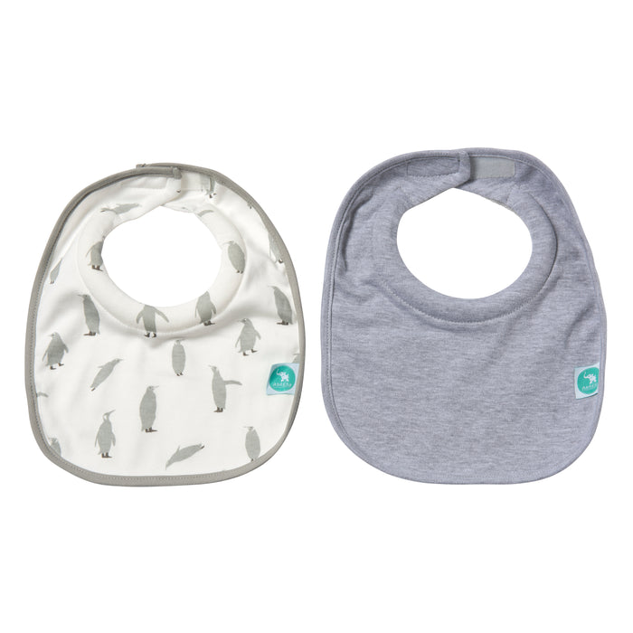 All4Ella: Roll Neck Bibs 2pk - Penguin - KidsnToys.co.nz
