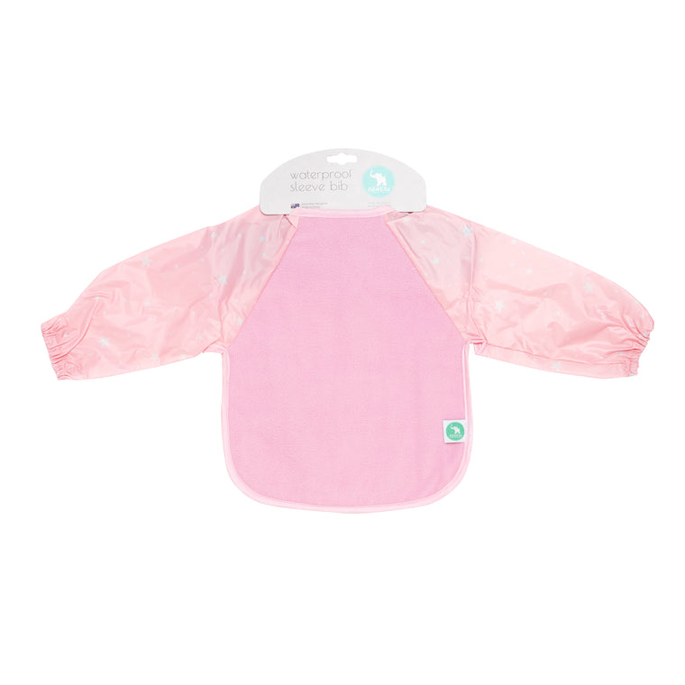 All4Ella: Long Sleeve Bib - Pink Stars