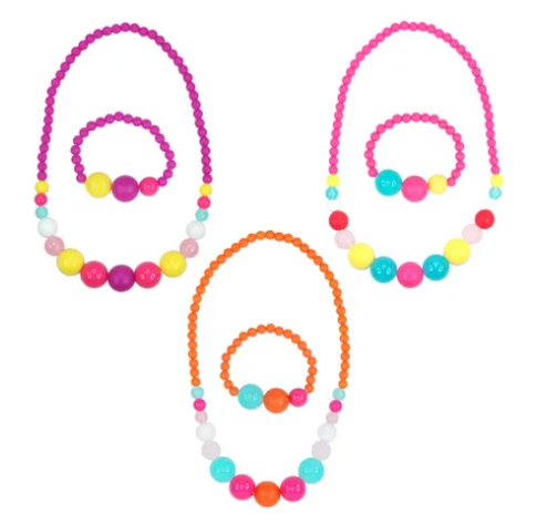 Pink Poppy Calypso Necklace & Bracelet Set
