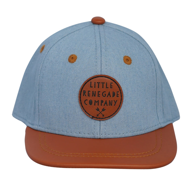 Little Renegade Company: Denim and Tan Snap Back Cap