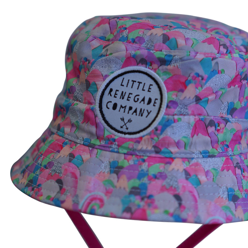 Little Renegade Company: Sugar Mountains Reversible Bucket Hat - KidsnToys.co.nz
