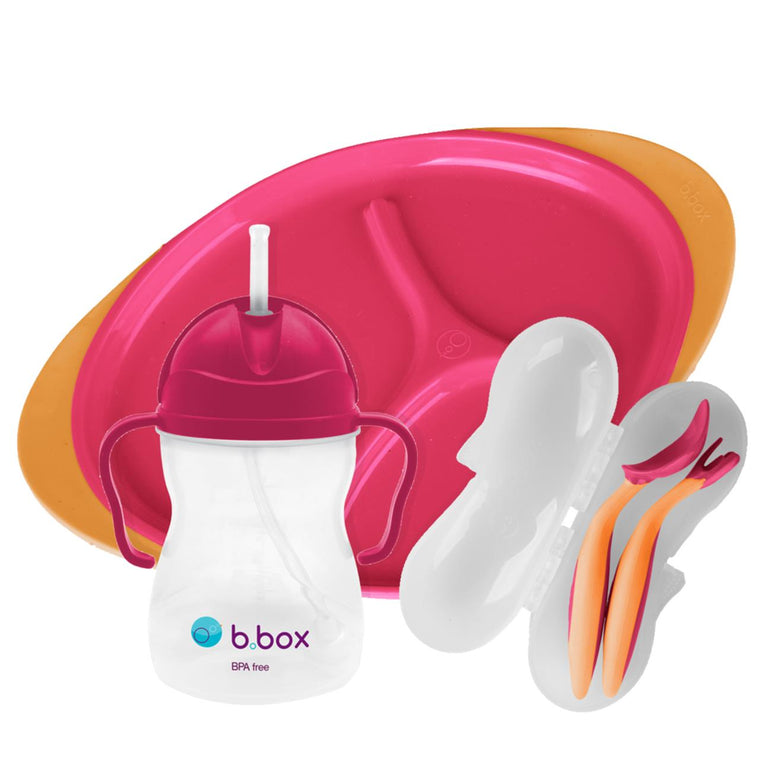 B.Box Feeding Set - Strawberry Shake
