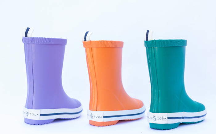 French Soda: Kids Rubber Gumboot - Purple - KidsnToys.co.nz
