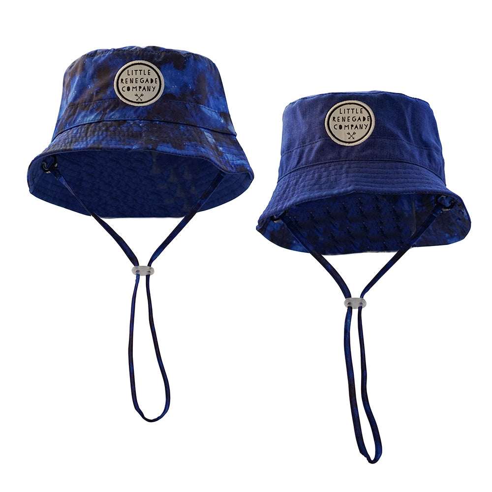 Little Renegade Company: Galaxy Reversible Bucket Hat (4863294898247)