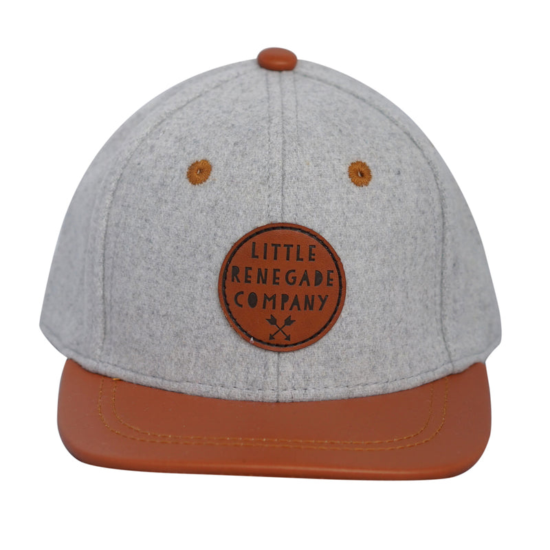 Little Renegade Company: Grey Felt and Tan Snap Back Cap - KidsnToys.co.nz (4648486600775)