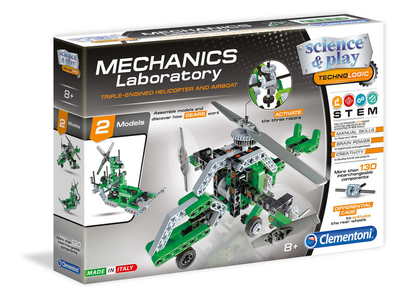 Science & Play Mechanics Lab - Triple Engined Helicopter and Airboat (4810374512711)