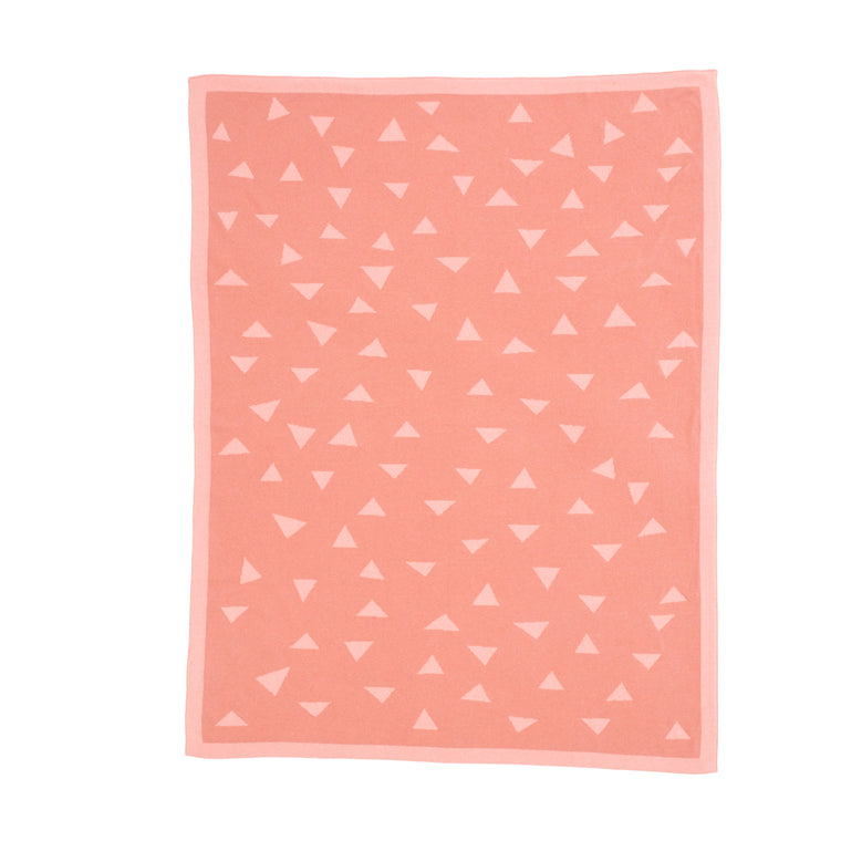All4Ella: Knitted Blanket - Triangle Pink