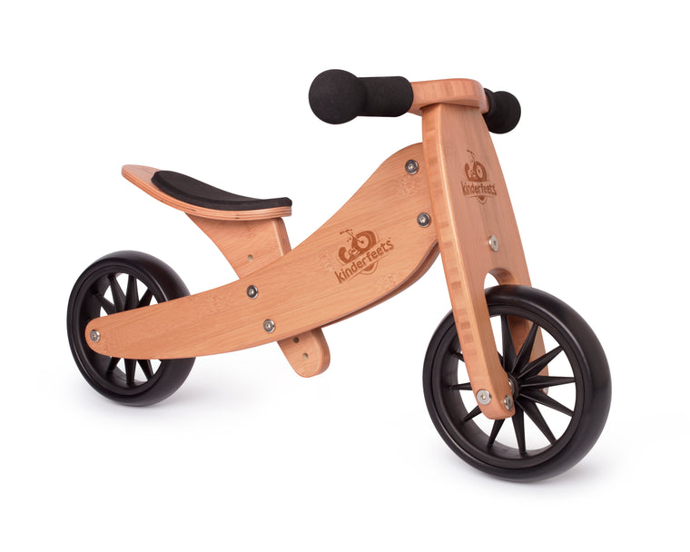 Kinderfeets: 2-in-1 Tiny Tot Tricycle & Balance Bike - Bamboo