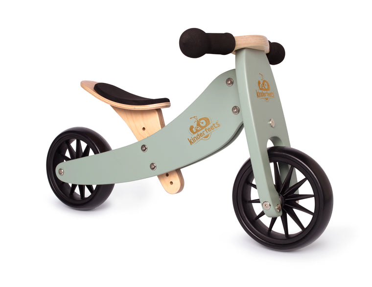 Kinderfeets: 2-in-1 Tiny Tot Tricycle & Balance Bike - Sage