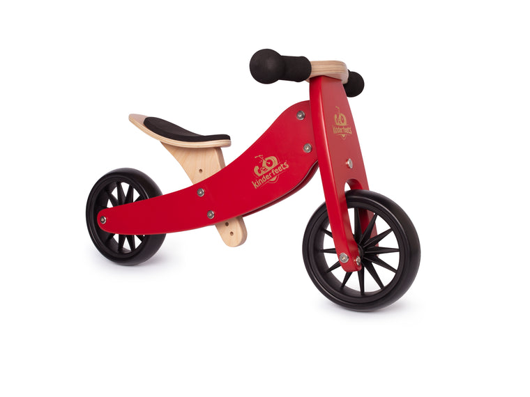 Kinderfeets: 2-in-1 Tiny Tot Tricycle & Balance Bike - Cherry Red