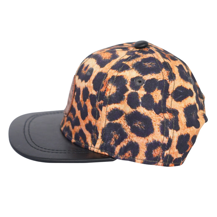 Little Renegade Company - Leopard Print Snap Back Cap
