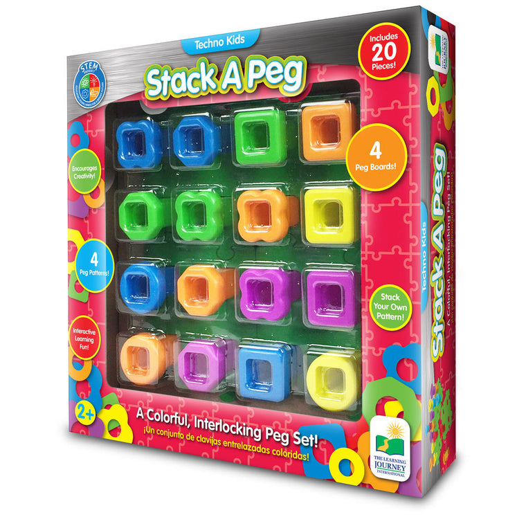 The Learning Journey - Techno Kids Stack a Peg Game