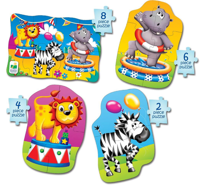 The Learning Journey - Jungle 4 in a Box Puzzles - KidsnToys.co.nz