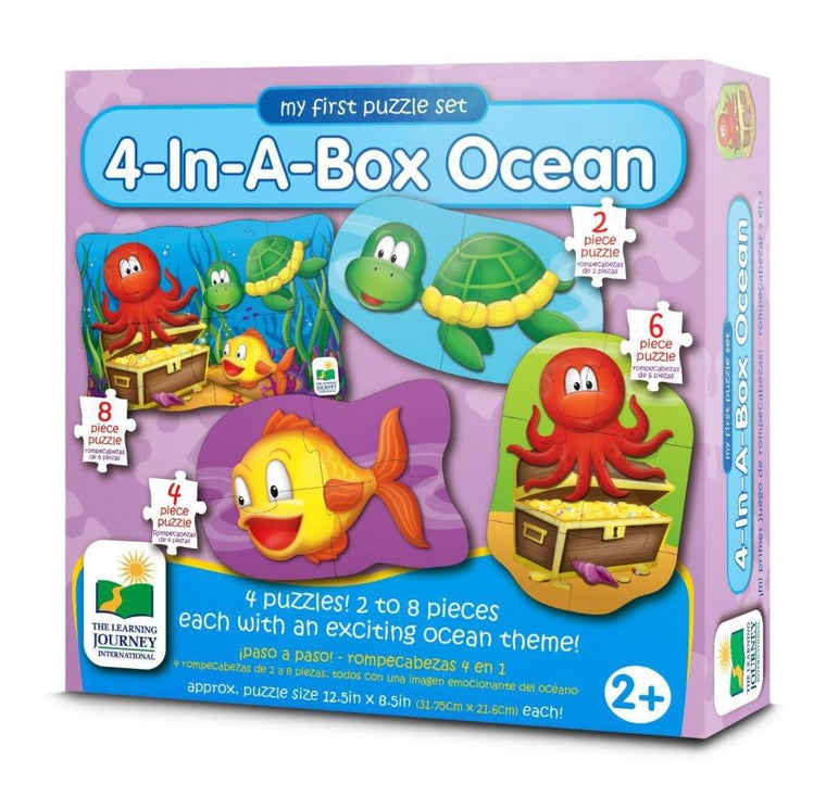 The Learning Journey - 4 in a box Ocean Puzzle