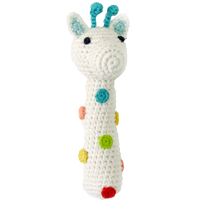Weegoamigo: Crochet Rattle - Giraffe - KidsnToys.co.nz