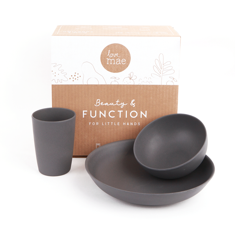 Love Mae:  Not so Mini Set - Charcoal Dinner Set