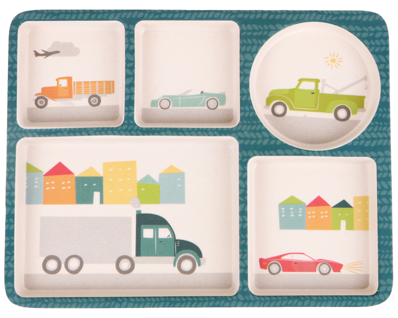 Love Mae: Divided Plate Set - Cars - KidsnToys.co.nz (4713032089671)