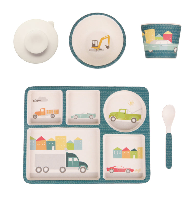 Love Mae: Divided Plate Set - Cars