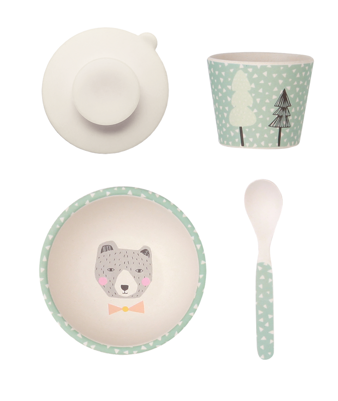 Love Mae: Baby Feeding Set - Bear - KidsnToys.co.nz (4713040576583)
