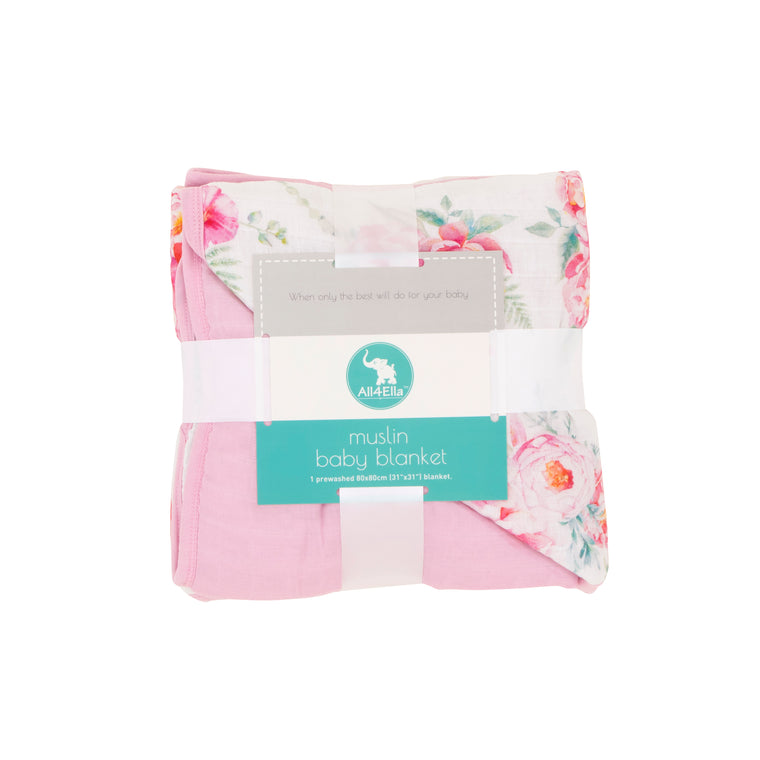 All4Ella: Muslin Blanket - Floral