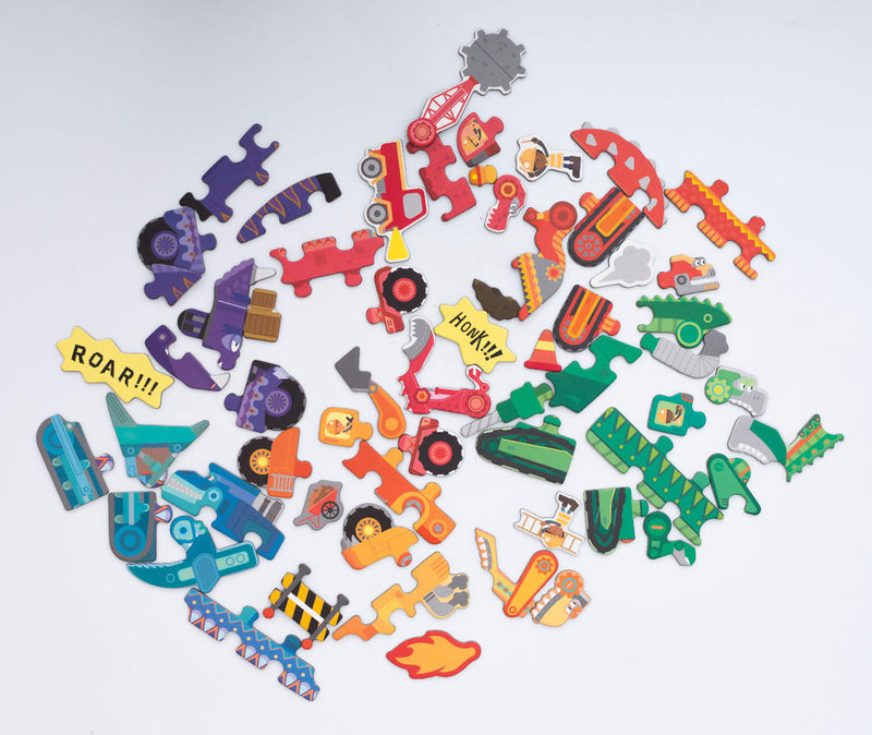Meir Edu: DIGGERSAURS - Puzzle & Draw Magnetic Kit - KidsnToys.co.nz