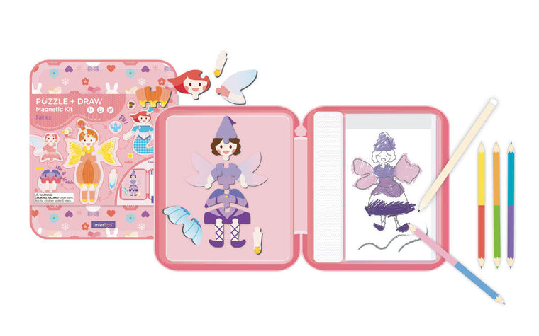 Meir Edu: Fairy Tales Puzzle and Draw Magnetic Kit