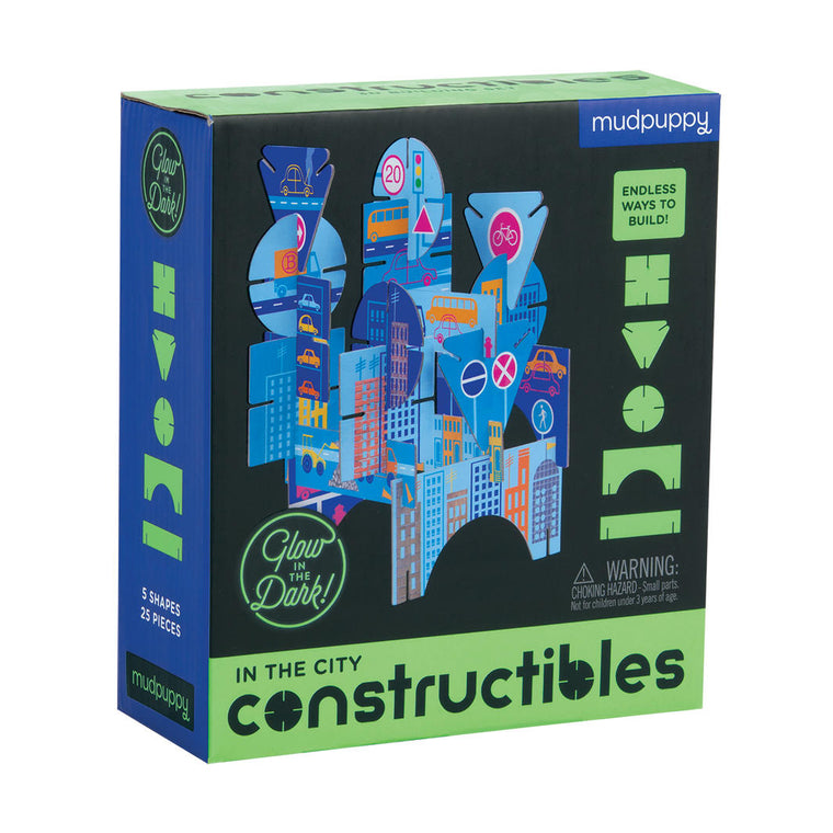 Mudpuppy: In the City Constructibles - Glow In The Dark