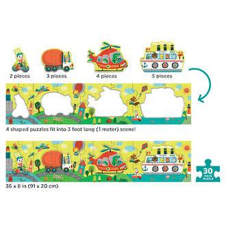 Mudpuppy: My Very Long Puzzle, Transportation - KidsnToys.co.nz
