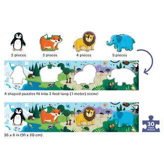 Mudpuppy: My Very Long Puzzle, Animals of the World - KidsnToys.co.nz