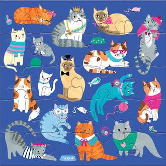 Mudpuppy: Magnetic Puzzle, Cats and Dogs 2x 20pce puzzles. - KidsnToys.co.nz