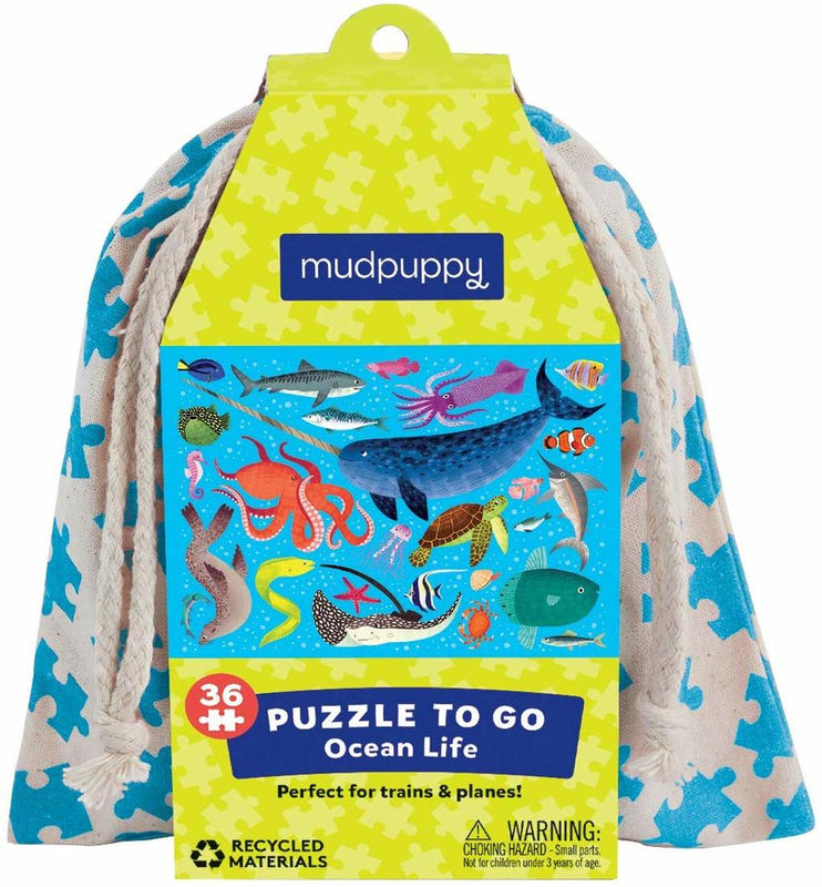 Mudpuppy: Ocean Life Puzzle to Go - KidsnToys.co.nz