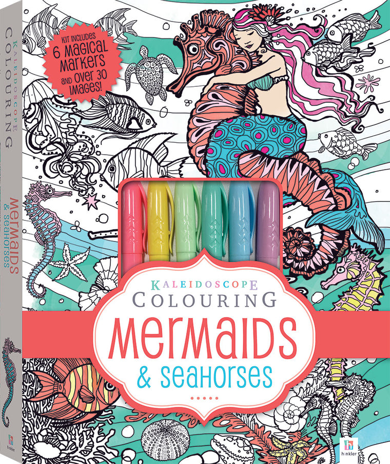 Kaleidoscope Colouring Kit: Mermaids and Seahorses
