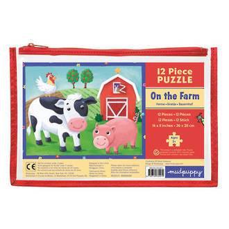 Mudpuppy: Pouch Puzzle - On The Farm - KidsnToys.co.nz