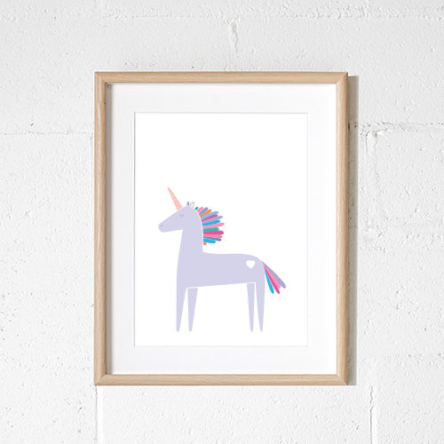 Sprout & Sparrow - A3 Unicorn Print - KidsnToys.co.nz