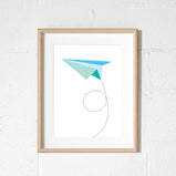 Sprout & Sparrow - A3 Paper Plane Print - KidsnToys.co.nz (4693359067207)