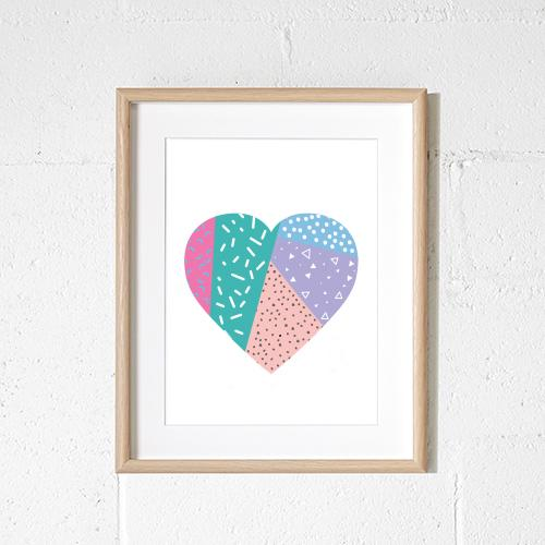 Sprout & Sparrow - A3 Confetti Heart Print - KidsnToys.co.nz