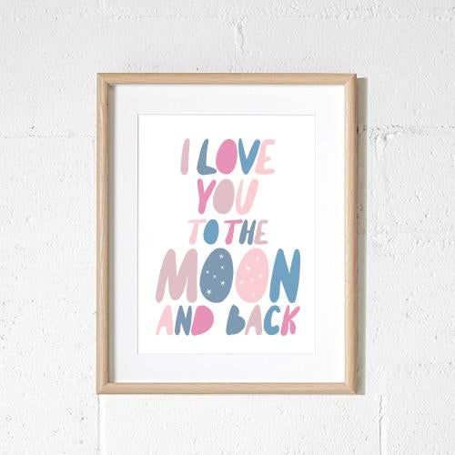 Sprout & Sparrow - A3 To the Moon & Back Print