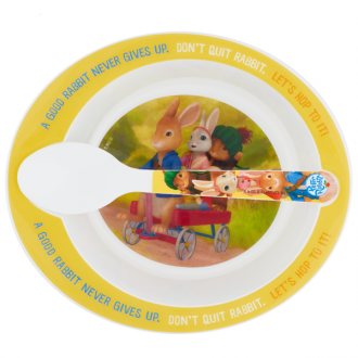Peter Rabbit Animated: Bowl & Spoon