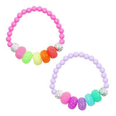 Pink Poppy Sugar Candy Bead Bracelet