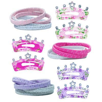 Pink Poppy  Crown Hair Accessories Set