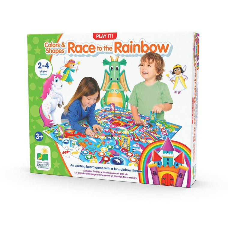 The Learning Journey: Play It Game-Colours and Shapes Race to the Rainbow