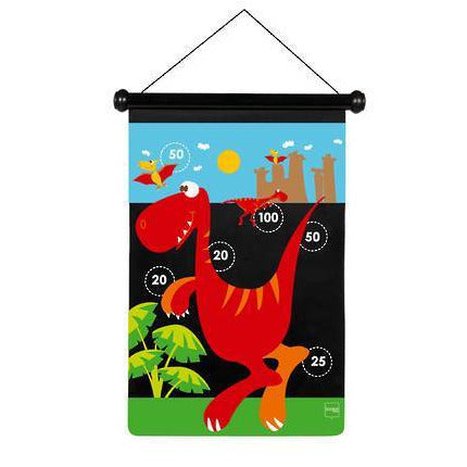 Scratch Darts - Dinosaur magnetic 36x55 cm 2 sided printing