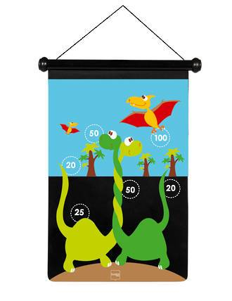 Scratch Darts - Dinosaur magnetic 36x55 cm 2 sided printing - KidsnToys.co.nz