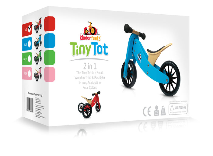 Kinderfeets: 2-in-1 Tiny Tot Tricycle & Balance Bike - Cherry Red (4793997590599)