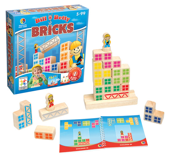 Smart Games: Bill and Betty Wooden Bricks - KidsnToys.co.nz