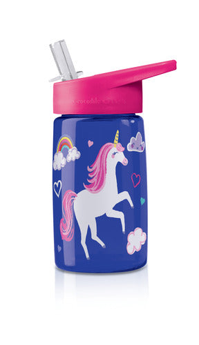 Crocodile Creek Tritan 450ml Drink Bottle - Unicorn - KidsnToys.co.nz (4772462985287)