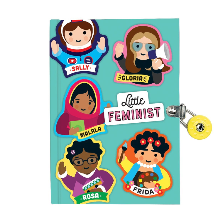 Mudpuppy: Little Feminist Locked Diary
