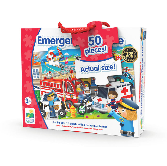 The Learning Journey - Emergency Rescue Jumbo Floor Puzzle