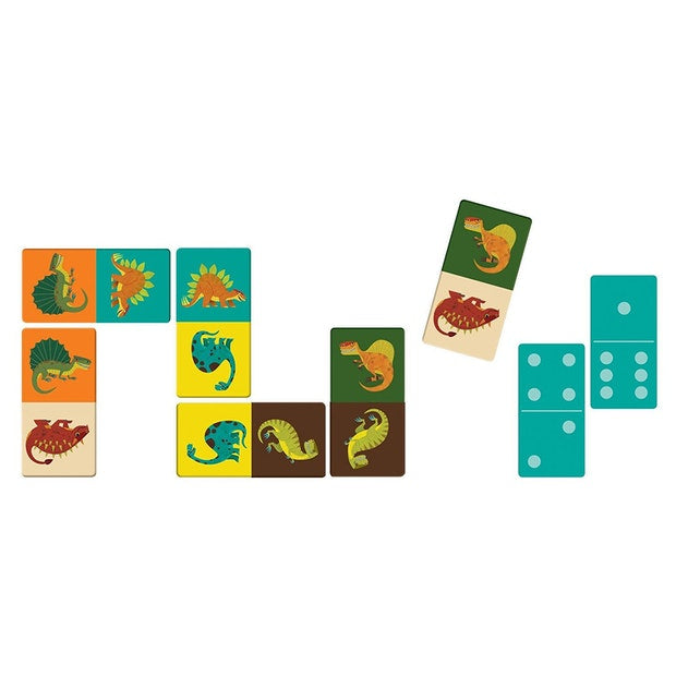Mudpuppy: Mighty DInosaurs Dominoes - KidsnToys.co.nz